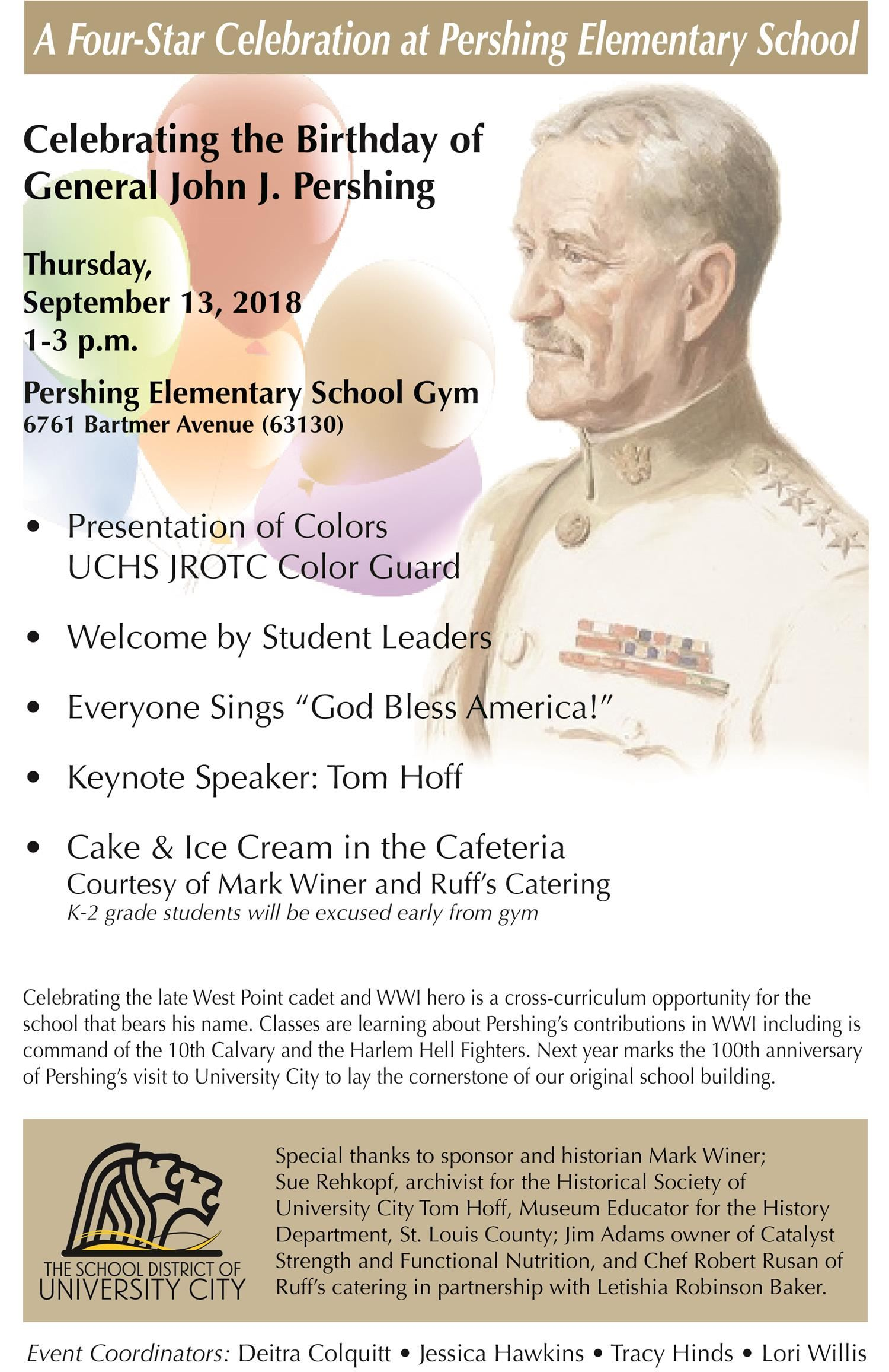 Pershing celebration program