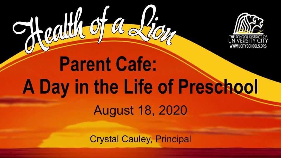 Parent Café: A Day in the Life of Julia Goldstein ECEC 081820