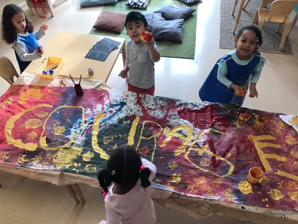 Students make Courage Banner