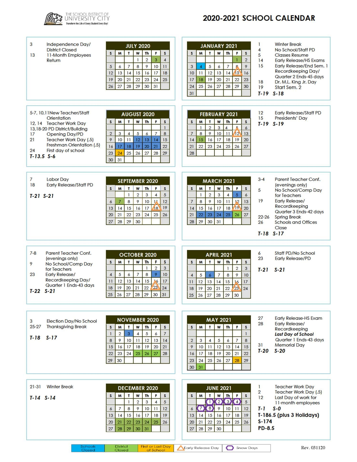 University Of Hawaii Academic Calendar 2021 - February 2021