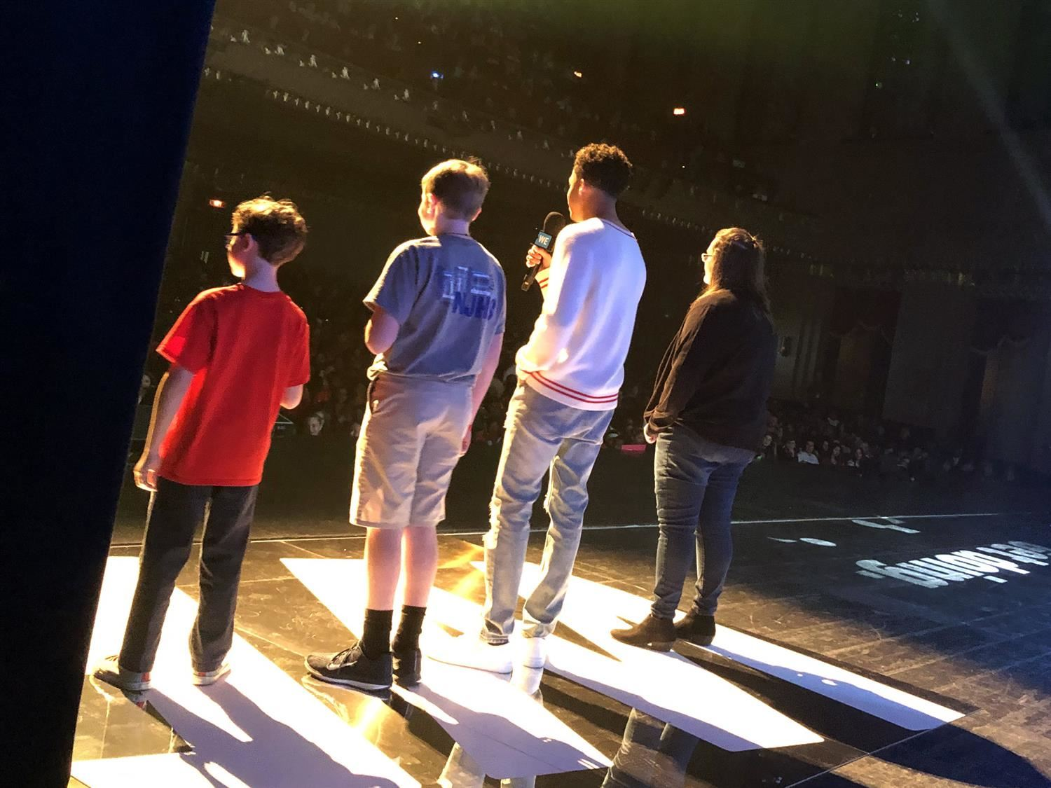 On Stage at WE Day