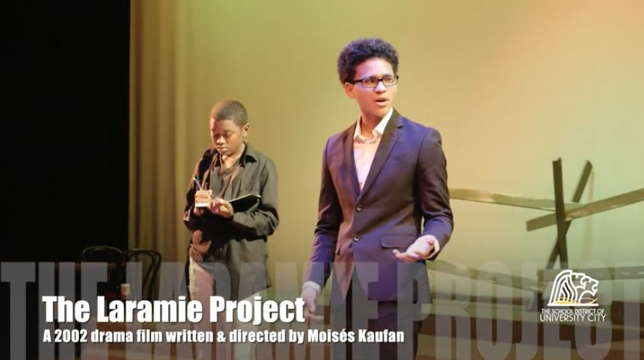 Photo: Students perform Laramie project on UCHS stage
