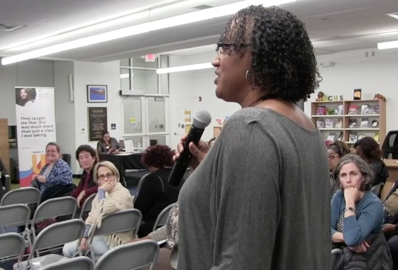 Former Board member and UCHS alumnae Linda Jones shared her insights during the Dec. 4 Meeting.