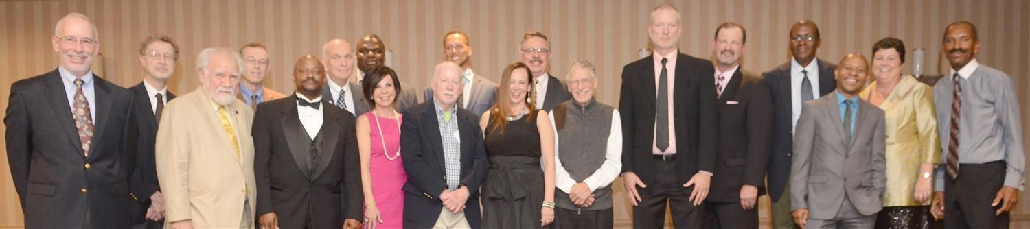 Photo of past and new inductees present at 2017 Hall of Fame Ceremony