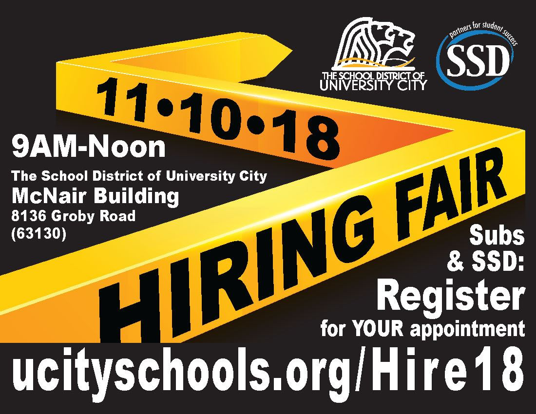hiring fair registration at www.ucityschools.org/hire18
