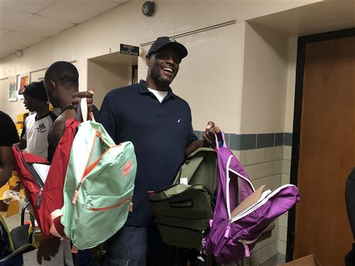 Students Rally to Pack 750 Donated Backpacks