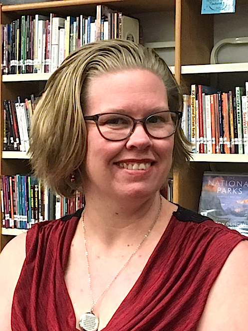 Kelly Werthmuller in library