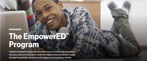 T-mobile EmpowerED website photo