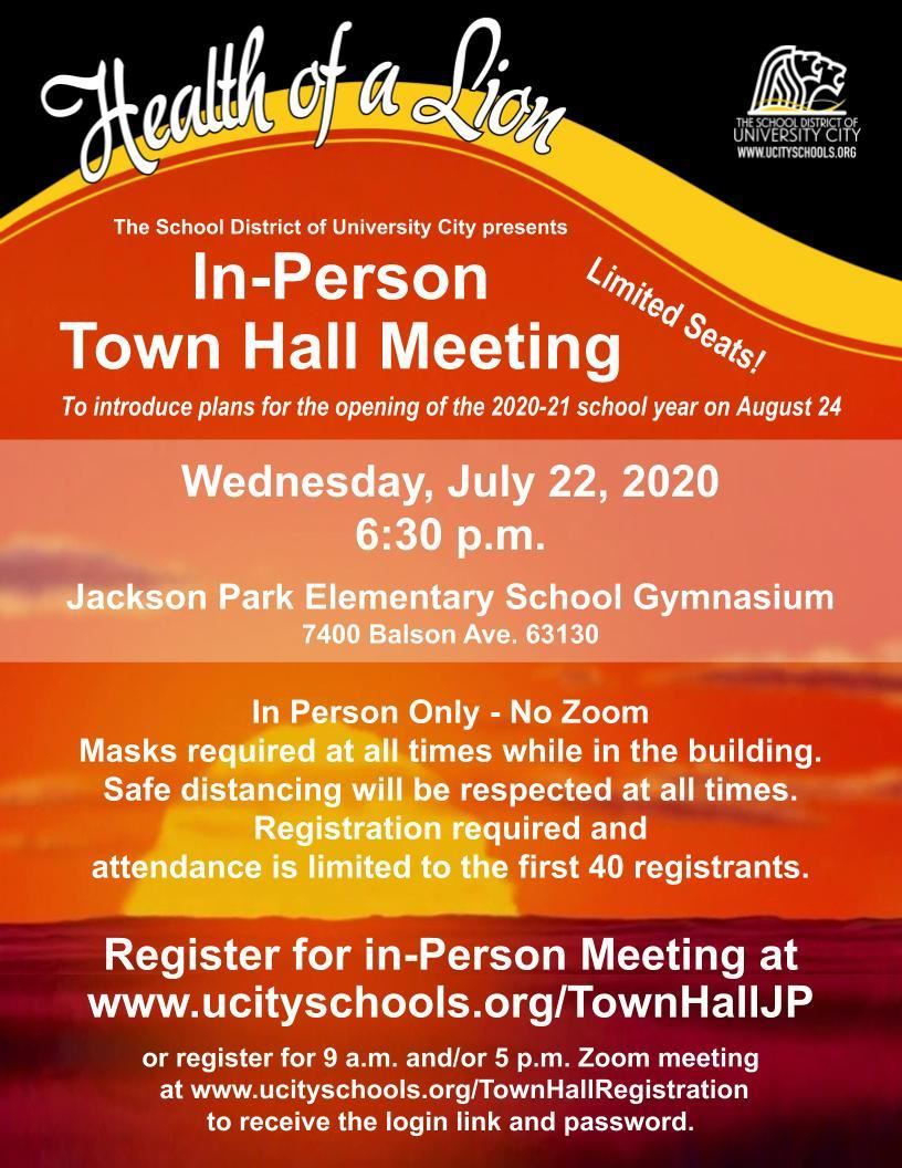 Town Hall 072220 flyer vert - In Person Update