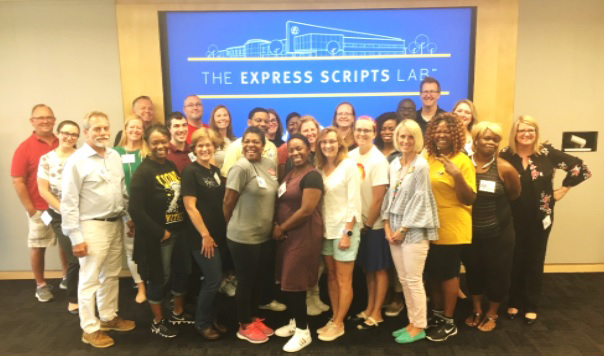 Science and career tech teachers are working at Express Scripts