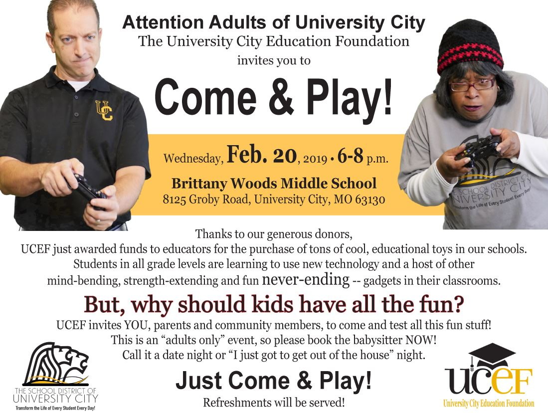 UCEF Come & Play AD