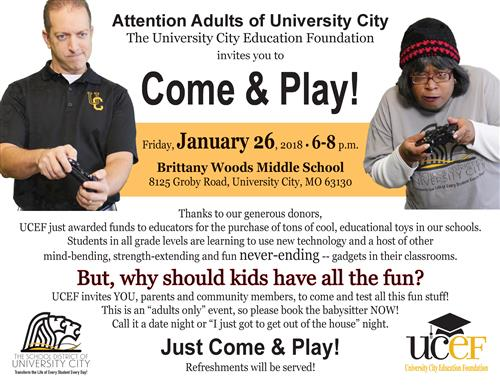 Come & Play flyer