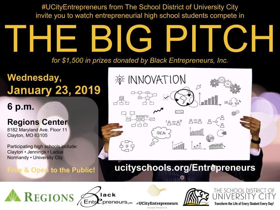 The Big Pitch promotional flyer