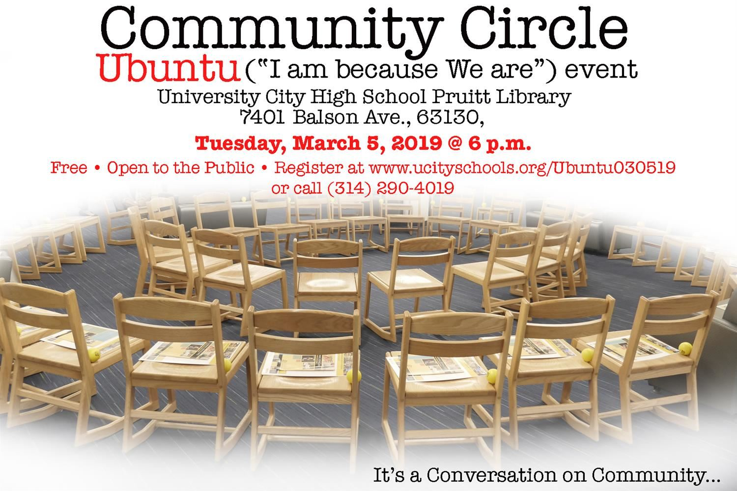 "Ubuntu ""I am because We are"" Community Circle - Rescheduled"