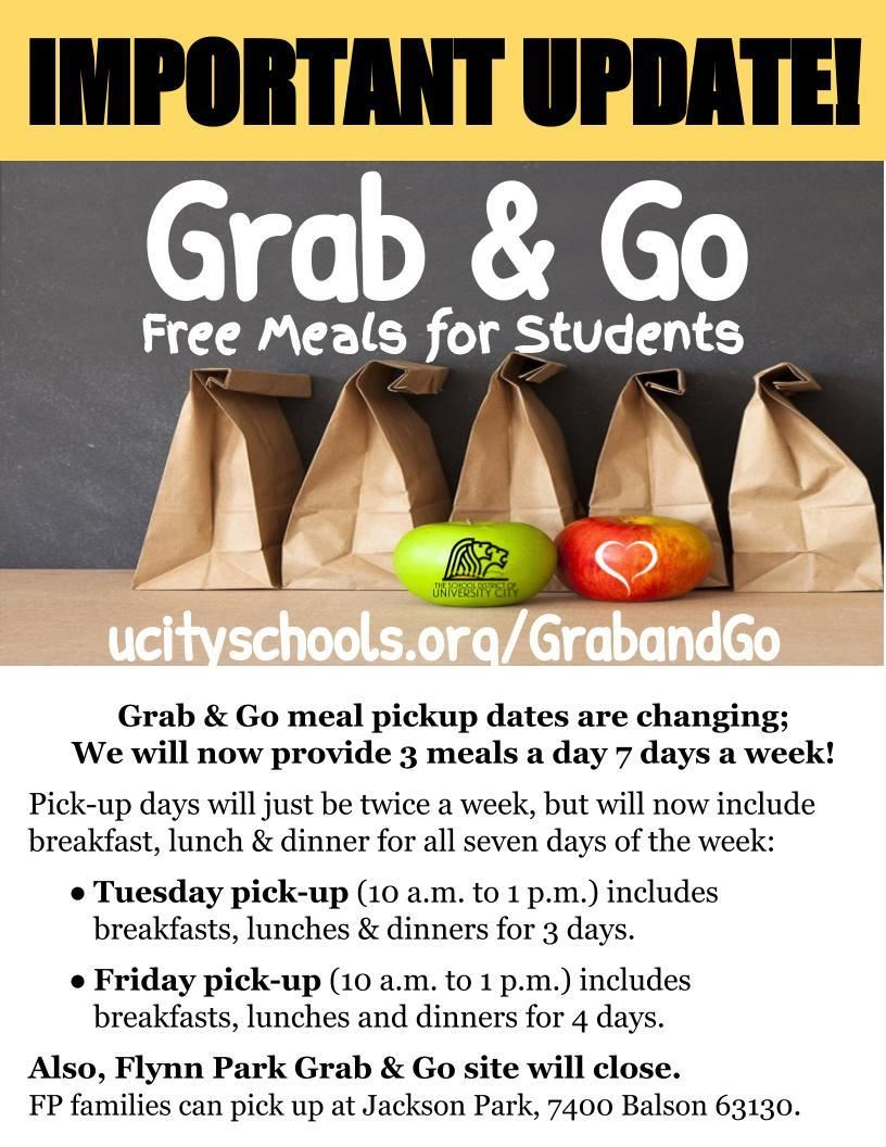 Weekend added to grab and go meals