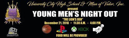 Young Men's Night Out on Dec. 21