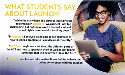 Launch brochure back cover with testimonials