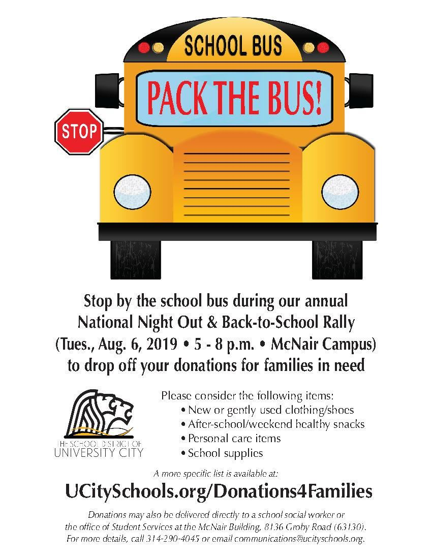 Pack The Bus 2019 Flyer