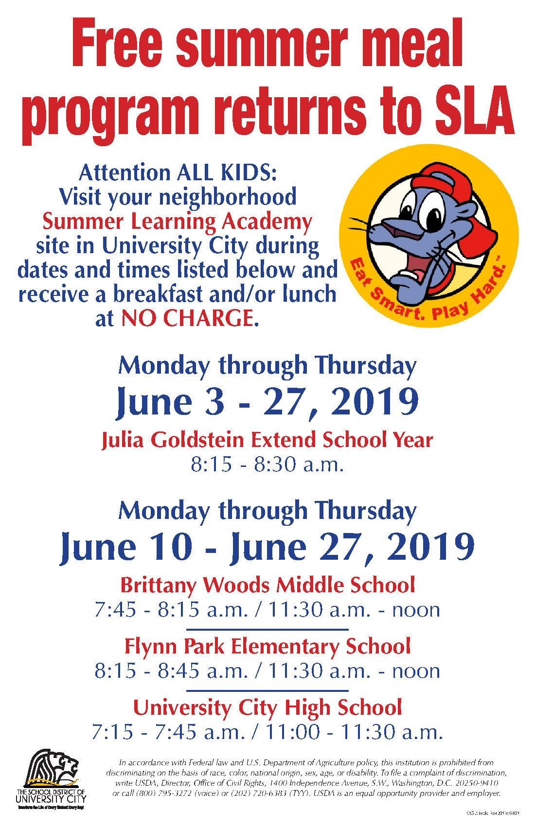 Food & Nutrition / Free Summer Meals