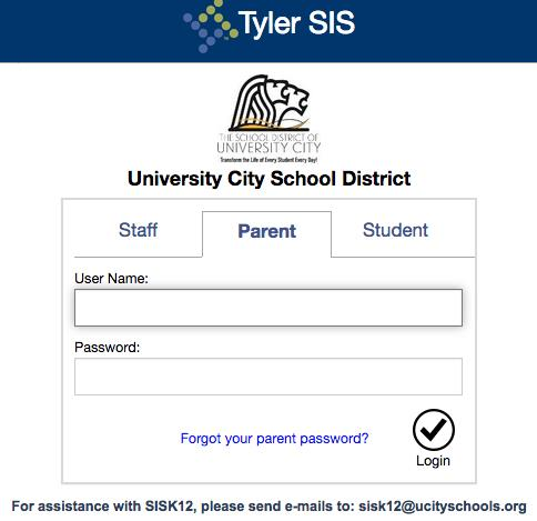 Tyler Log in page