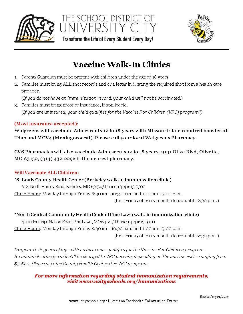Student Services / Student Immunization Requirements