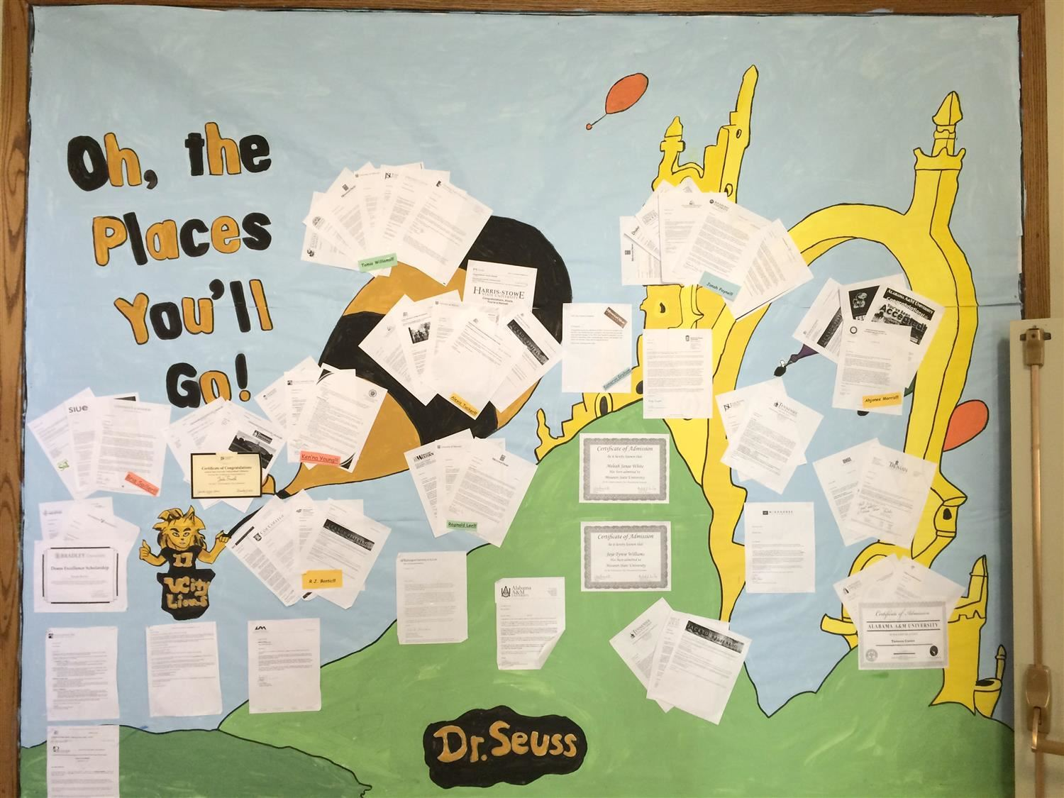 Oh The Places You'll Go... bulletin board