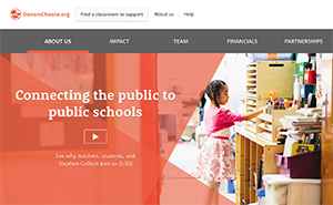 DonorsChoose.org website photo