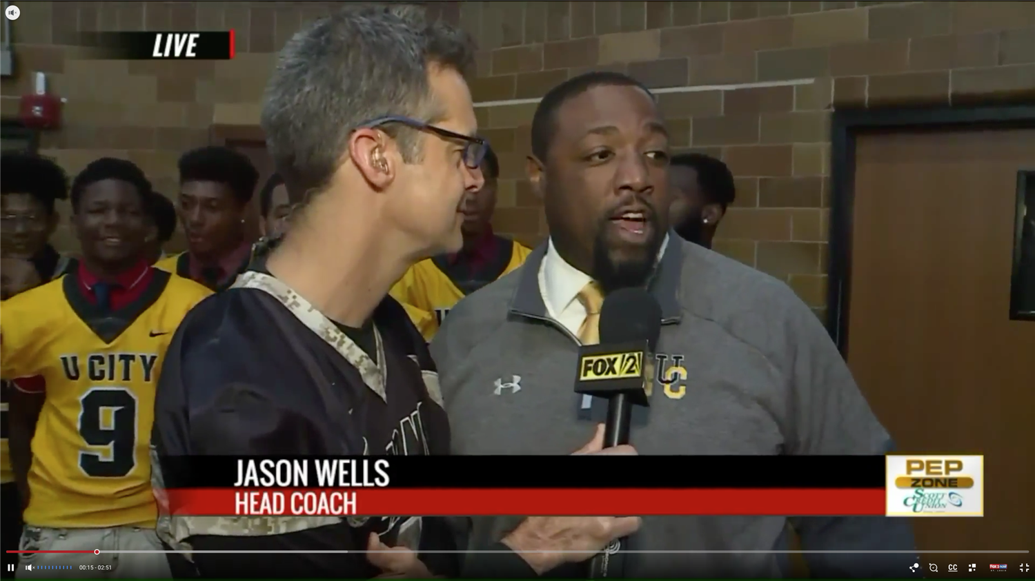 Fox 2 Tim Ezell with Coach Wells