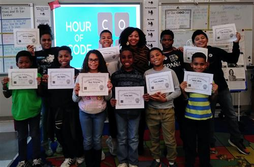Certificates Presented to Hour of Code Participants