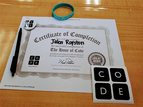 Hour of Code Swag